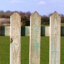 Timber-Wooden-Round-Top-Fence-Slats-Dorchester-Dorset