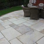 GOLDEN-FOSSIL-SANDSTONE-SLABS-PAVING-PATIO-DORCHESTER-DORSET